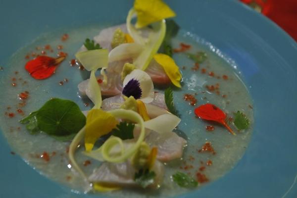 Uma opção de entrada é o Tiradito de peixe branco (Minervino Junior/CB/D.A Press)
