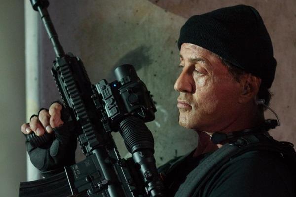 Sylvester Stallone comanda o estrelado elenco do filme (Phil Bray/Califórnia Filmes/Divulgação)