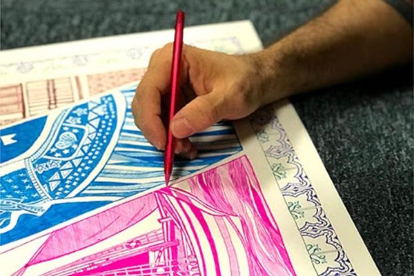 Resultado do que começou como uma brincadeira de Jailson Belfort com canetinhas pode ser conferido em Caneta criativa (Divulgação/Carlos Moura)