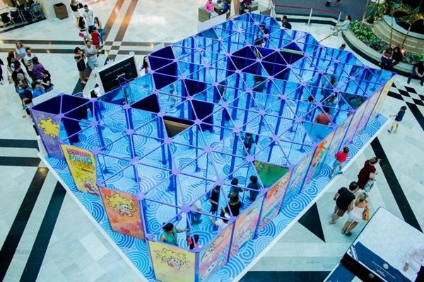 Thiago Rodrigues/Divulgação (Caminhos enigmáticos e espelhos compõem o Labirinto mágico da Turma da Mônica)