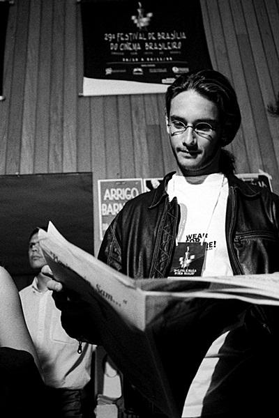Rodrigo Santoro em 2000, quando participou do festival com Bicho de sete cabeças (Mila Petrillo/Divulgação)