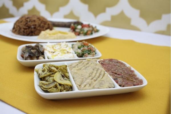 O restaurante Árabe Gourmet oferece diversas iguarias árabes no menu degustação (Ana Rayssa/Esp. CB/D.A Press)