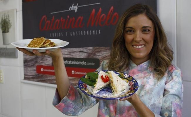 Catarina Melo sugere receitas com ingredientes práticos e que não exijam muito pré-preparo (Ana Rayssa/Esp. CB/D.A Press)