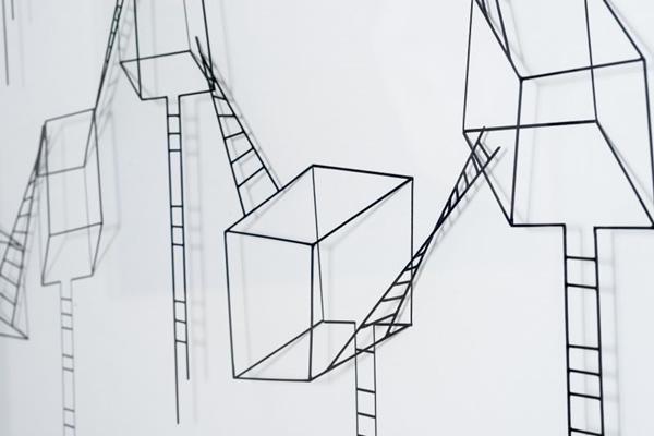 Foto da obra do artista, em cartaz na exposição 'Traço expandido' (Evandro Soares)