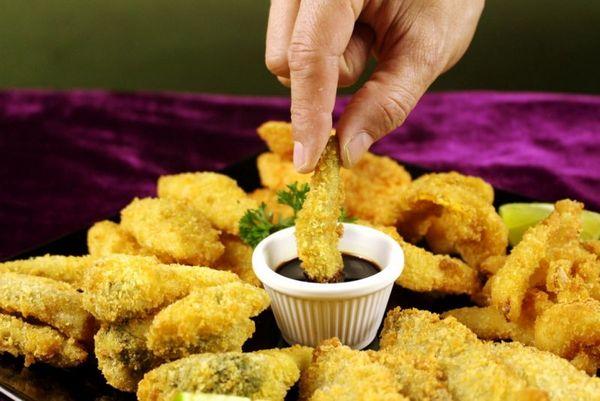 O tempurá diferente poderá fazer parte do menu do La Rubia Café  (Samuel Barros/Divulgação)