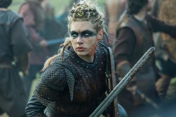 Lagertha ganhou protagonismo após morte de Ragnar Lodbrok (Netflix/Divulgação)