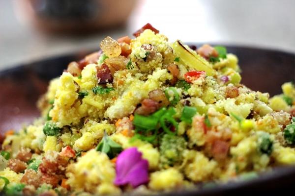 Farofa de ovo com legumes (Victor Correia/Re9 Comunicação )