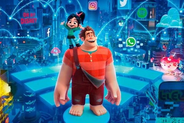 Ralph e Vanellope vivem uma aventura dentro do mundo da world wide web (Disney/Divulgação)