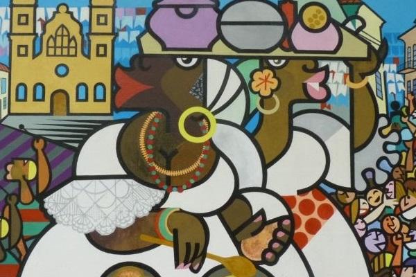 As tradicionais baianas estão retratadas nas telas de Nelson Pinto  (Nelson Pinto/Reprodução)