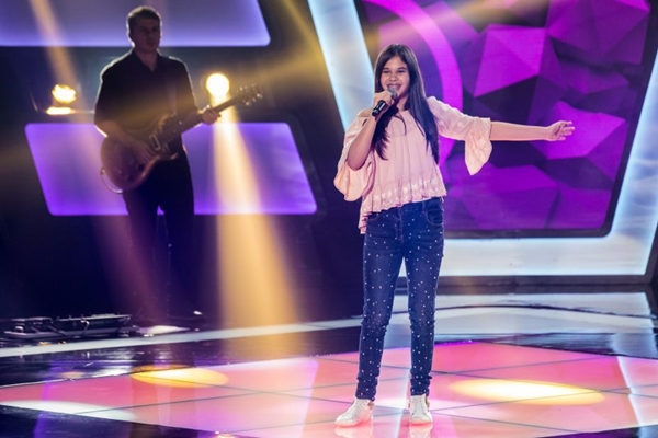 Letícia Alves, que participou do The Voice Kids,  (Fabio Rocha/TV Globo)