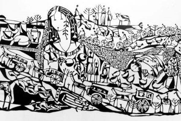 Esculturas em aço naval leva referências cotidianas à galeria de arte (Pedro Miranda/Divulgação)