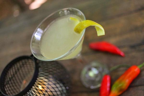 Martini de pequi com pimenta, do Santé 13 ( Igor Almeida/Divulgação )