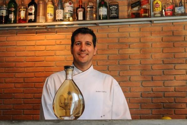 André Castro comanda o Cozinha Authoral e leva para o festival duas receitas (Barbara Cabral/Esp. CB/D.A Press)