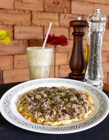 As pizzas de frigideira são opções práticas no Maori (Vinicius Cardoso Vieira/CB/D.A Press)