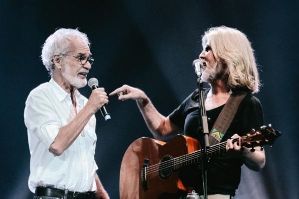 Oswaldo Montenegro e Renato Teixeira nunca haviam se apresentado juntos antes dessa turnê  (Livio Campos/Divulgação)