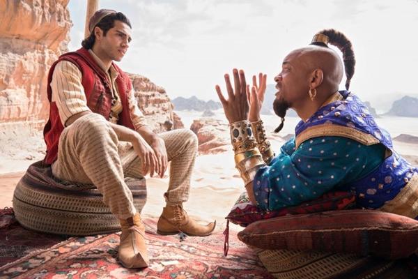 Dupla Aladdin e gênio da lâmpada faz parte da infância de muita gente (Reprodução/Internet)