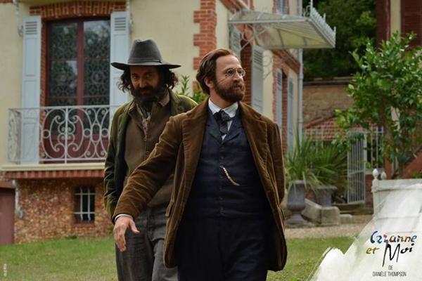 Guillaume Canet (à frente) interpreta Émile Zola em 'Cézanne e eu' (Bretz Filmes/Divulgação)