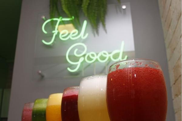 Os sucos não passam despercebidos no TNT Fit Food (Ana Rayssa/Esp. CB/D.A Press)