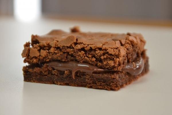 O brownie foi adaptado, perdeu as castanhas e ganhou recheio na Brauny's (Braunys Doce Sabor/CB/D.A Press)
