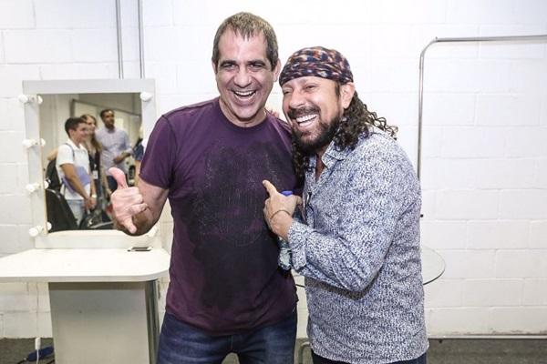 A amizade entre Durval Lelys e Bell Marques vem de décadas  (Fabio Cunha/Divulgação)