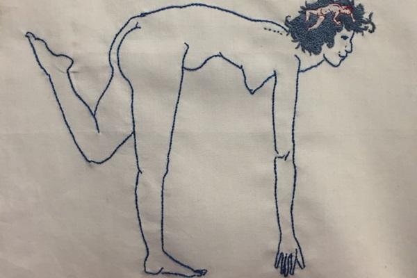 Obra da artista Julia Gonzales, parte da exposição Corpo cru / Olho nu na Galeria Casa (Julia Gonzales/Divulgacao)