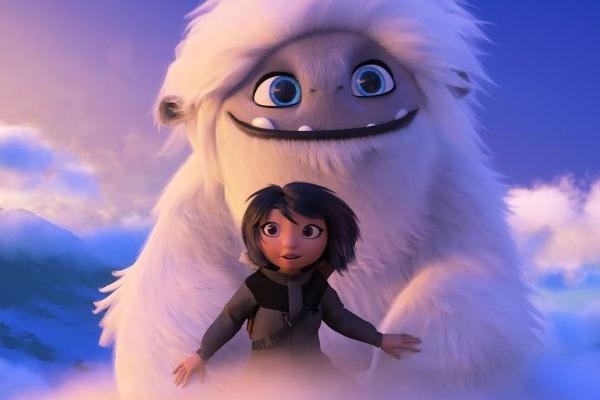 A criatura Everest conta com a ajuda de Yi para voltar ao lar em Abominável (Reproducao/AdoroCinema)