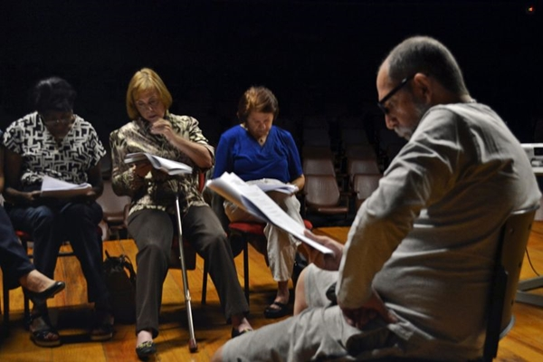 Alunos se entregam ao teatro (Robson G. Rodrigues/Esp. CB/ DA Press)