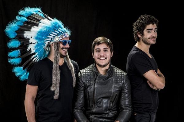 Trio de DJs brasileiros Make U Sweat (Rafael Nicolau/Divulgação)