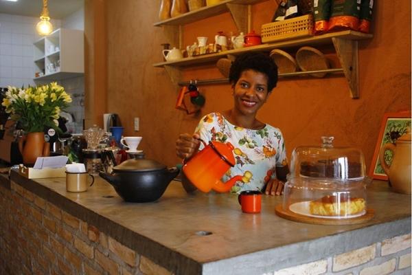 Helena Rosa trouxe um pouco da cultura do seu povo no menu e na decoração da casa (Ana Rayssa/Esp. CB/D.A Press )
