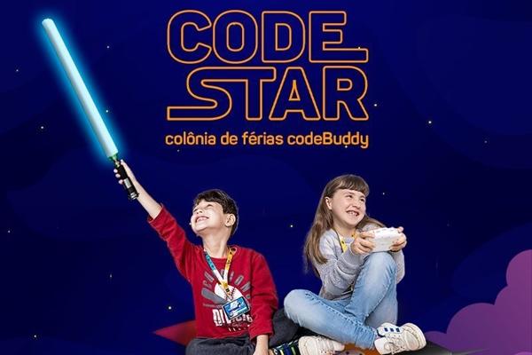 A oficina Code Star é uma opção para aproveitar o tempo livre aprendendo sobre tecnologia em clima de aventura (CodeBuddy/Divulgação)