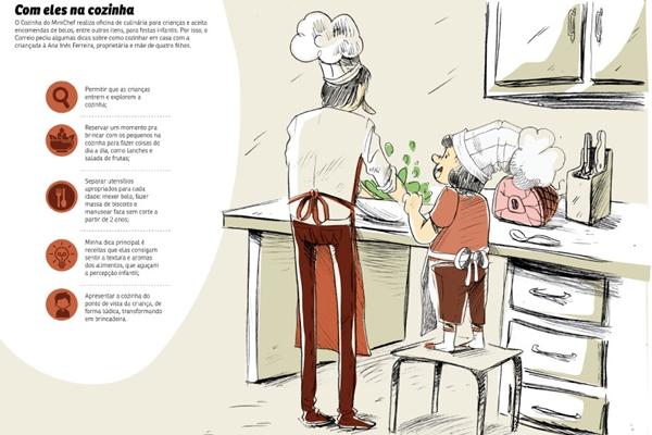 Confira dicas de como cozinhar com a criançada (Pacífico/CB/D.A Press)