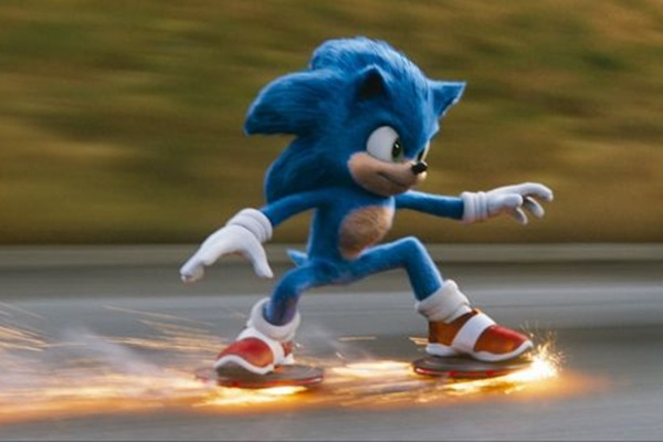 Sonic é o protagonista que parece ter asas nos pés, de tão veloz que se revela (Paramount Pictures/Divulgação)